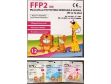 MASCARILLA FFP2 INFANTIL BOLSA INDIVIDUAL C/ 12 UND.